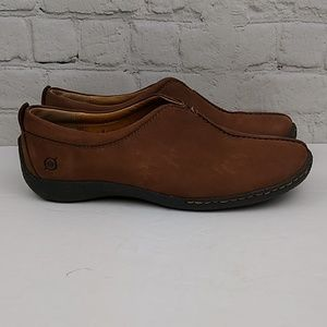 Born Womens Loafers 8 M 39 Brown Suede Slip on